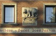 Schild vom Gashaus zum Baeren in Fürth