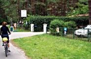 Eingang zum Campingplatz Camping am Reiherholz