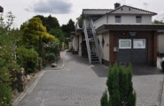 Einfahrt der Pension Kawa in Delmenhorst