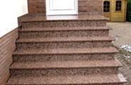 Haustürtreppen schön und glänzend