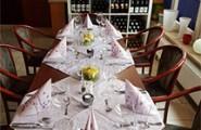 Tafel im Hotel-Restaurant Hagenow
