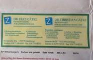 Visitenkarte der Zahnarztpraxis Dr. med. Christian Gätke in Wittenberge
