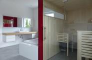 Badezimmer mit Sauna von Werkstätten Kilb GmbH in Nauort