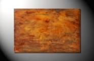 Ein abstraktes Werk aus unterschiedlichen Orangetönen