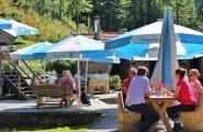 Biergarten der Herzoglichen Fischzucht Wildbad Kreuth in Kreuth