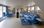 Wohnzimmer in Blau
