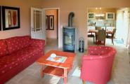 Wohnzimmer in Rot