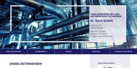 Der Spezialist für Pumpentechnik: W. Bach GmbH in Koblenz in Koblenz