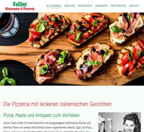 Mediterrane Spezialitäten im Bistro Ristorante Pizzeria Fellini in Schenefeld in Schenefeld