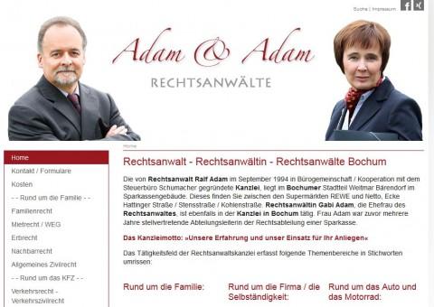 Familienrecht: Rechtsanwälte Adam & Adam in Bochum in Bochum