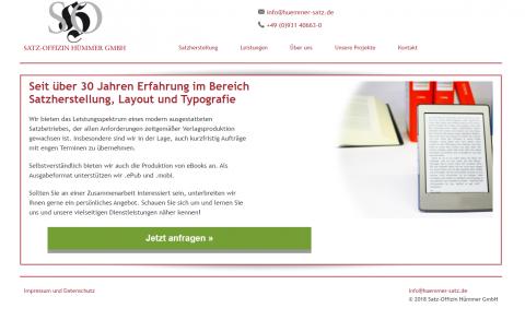 Hochwertige Druck-Erzeugnisse und eBooks bei der Satz-Offizin Hümmer GmbH in Waldbüttelbrunn