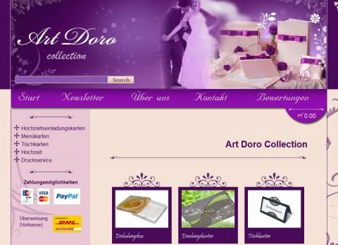 Art Doro Collection, Online-Shop Einladungskarten für die Hochzeit in Haiger