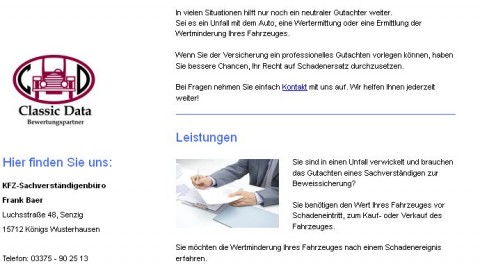 Kfz-Sachverständigenbüro Frank Baer in Königs Wusterhausen in Berlin in Königs Wusterhausen