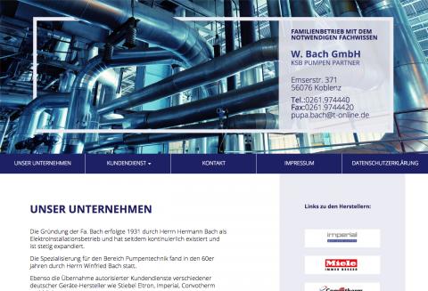 Reparatur von Pumpen in Koblenz: W. Bach GmbH in Koblenz