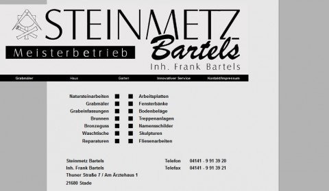 Individuelle Grabmale in Buxtehude: Steinmetz Bartels in Stade in Stade