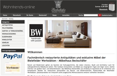 Möbelhaus und Online-Shop Beckschäfer in Arnsberg in Arnsberg-Hüsten