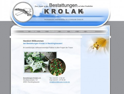 Bestatter Krolak e.K. in Recklinghausen in Recklinghausen