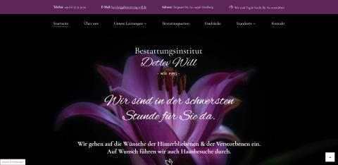 Ihr einfühlsamer Bestatter im Trauerfall: Bestattungsinstitut Detlev Will in Herzberg in Herzberg