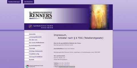 Beerdigungsinstitut Renners GmbH – Bestattungen in Mönchengladbach in Mönchengladbach