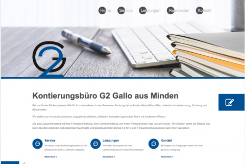 Buchhaltung im Raum Bielefeld durch Ihr Kontierungsbüro G 2 Silke Gallo in Minden