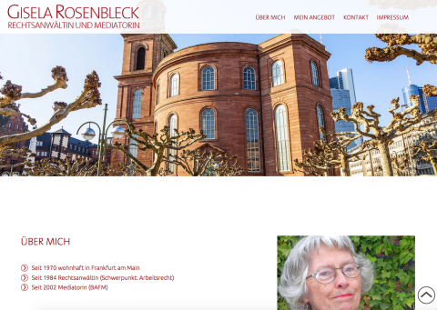 Rechtsanwältin und Mediatorin Gisela Rosenbleck in Frankfurt am Main in Frankfurt