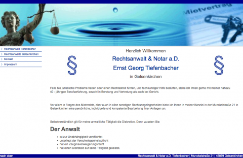 Anwalt für Mietrecht in Gelsenkirchen: Rechtsanwalt und Notar a.D. Ernst Georg Tiefenbacher  in Gelsenkirchen