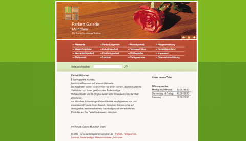 Parkett Galerie München GmbH, der Experte für Bodenbeläge in München