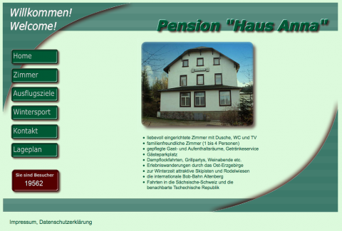 Immobilienverkauf in Altenberg: Pension Haus Anna in Altenberg