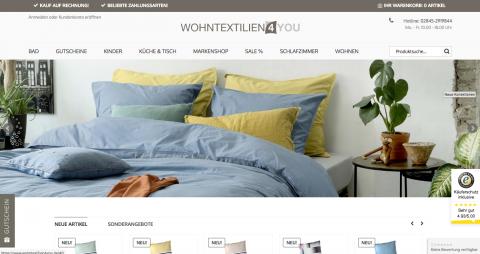 Hochwertige Bettwäsche im Online-Shop: Wohntextilien 4You  in Neukirchen-Vluyn