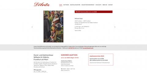 Antiquitäten in Frankfurt: Kunst- und Auktionshaus Wilhelm M. Döbritz in Frankfurt