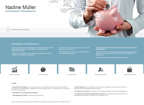 Kompetente Buchhaltung im Raum Balingen - Buchhaltungsbüro und Sekretariatsservice Nadine Müller in Albstadt  in Albstadt