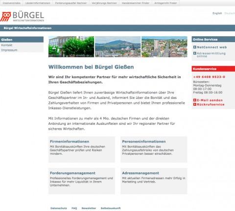 Wirtschaftsinformationsdienst und Inkassobüro Bürgel in Reiskirchen in Reiskirchen