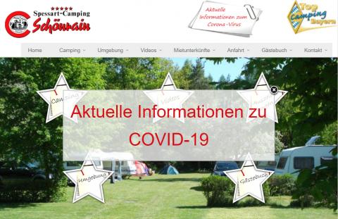 Entspannter Urlaub auf dem Campingplatz in Bayern – Spessart-Camping Schönrain in Gemünden a. Main