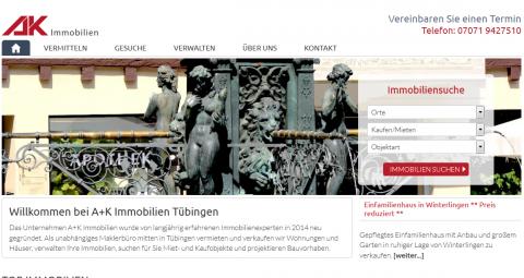 Immobilien in der Region Tübingen: A und K Immobilien UG (haftungsbeschränkt) in Tübingen