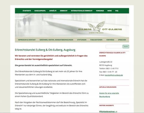Erbrechtskanzlei Eulberg und Ott-Eulberg in Augsburg: Qualifizierte Expertise im Bereich Erbrecht in 86152