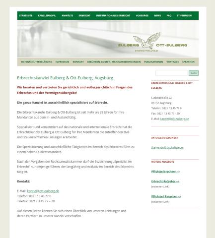 Erbrechtskanzlei Eulberg und Ott-Eulberg: Versierte Fachanwälte für internationales Erbrecht in Augsburg