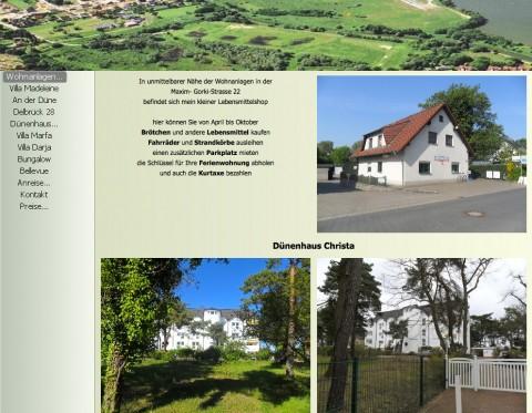 Vermietung von Ferienwohnungen in Heringsdorf in Seebad Heringsdorf