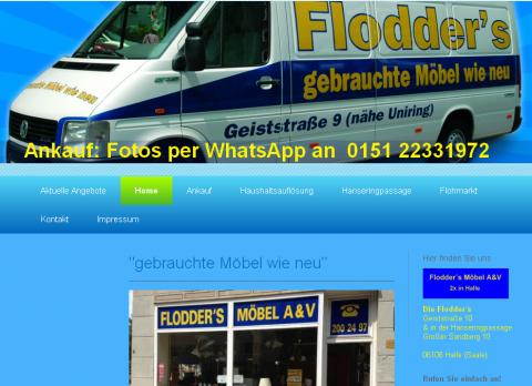 Die Flodder`s – Haushaltsauflösung und Flohmarkt für gebrauchte Möbel in Halle in Halle an der Saale