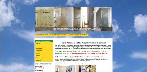 Ihr Ansprechpartner für Glasduschen in München: Glas-Spiegel-Rahmen GmbH in München