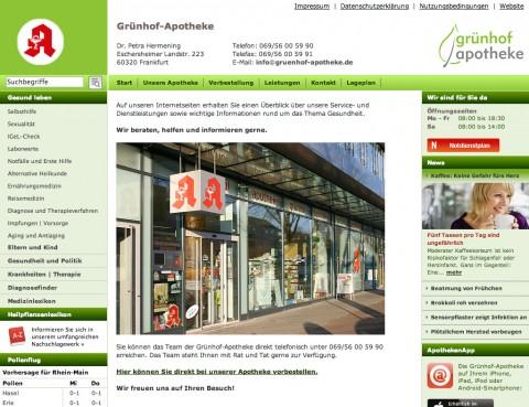 Die Grünhof-Apotheke in Frankfurt in Frankfurt