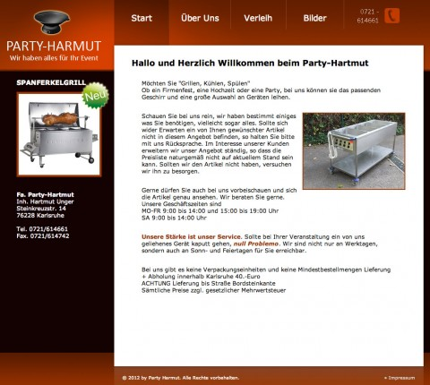 Party-Hartmut in Karlsruhe in Karlsruhe