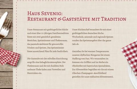 Haus Sevenig: Restaurant und Gaststätte in Alsdorf in Alsdorf