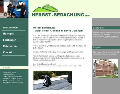 Herbst-Bedachung GmbH in Bergisch Gladbach in Bergisch Gladbach ( Refrath )