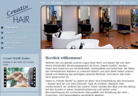 Moderner Friseursalon in Starnberg: Friseur Creativ HAIR in Starnberg