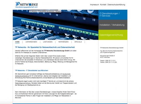 Sichere IT-Umzüge bei der TP Networks Dienstleistungsgesellschaft mbH in München in München