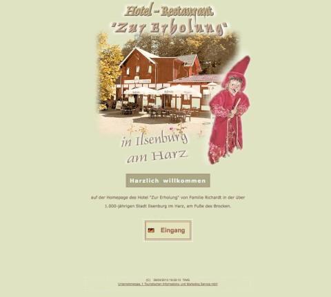 """Hotel """"Zur Erholung"""" in Ilsenburg im Harz in Ilsenburg (Harz)"""