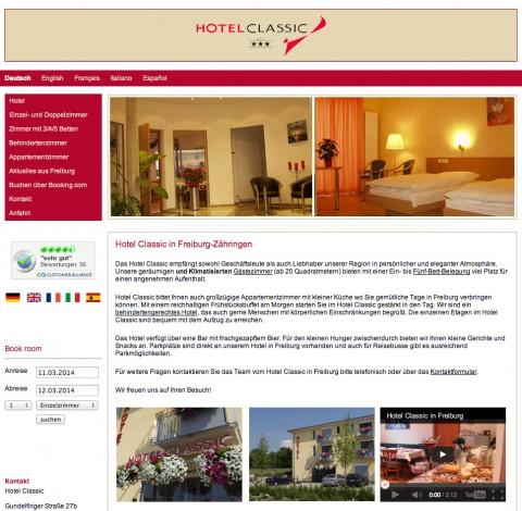 Das Hotel Classic in Freiburg in Freiburg