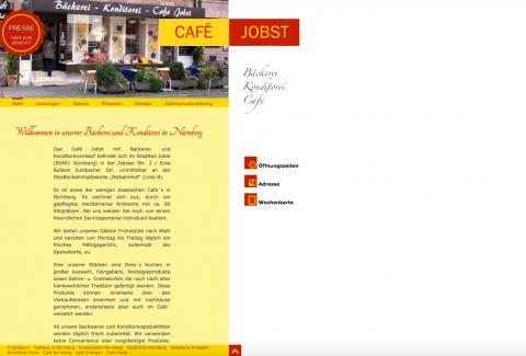 Kaffee trinken und genießen im Café Jobst in Nürnberg