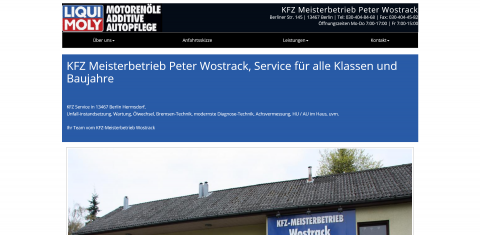 Ihr Auto-Service in Berlin: Kfz-Meisterbetrieb Peter Wostrack in Berlin