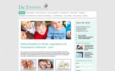 Schöne und gesunde Zähne – Kieferorthopädische Praxis Dr. Tarnovius in München in München-Laim